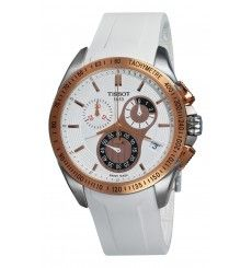 Tissot Men's T-Sport Racing Chronograph White Dial Watch -- Continue to the product at the image link. Sport Watches, Cool Watches, Watches For Men, Women's Watches, Wrist Watches, Le Locle, Swiss Army Watches, Rubber Watches, Beautiful Watches