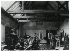 Studies at the residential Bath Academy of Art, Corsham, Wiltshire, which is run by charismatic artists Clifford and Rosemary Ellis. 'We were taught