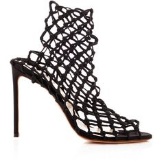 b891808cc8e1 Francesco Russo Mesh High Heel Bootie ( 950) ❤ liked on Polyvore featuring  shoes