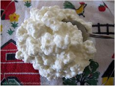 Homemade cottage cheese. A good use for sour milk. Done did it done!