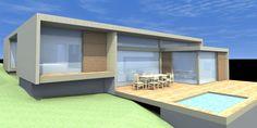 a minimalist timber frame home Timber Frame Homes, Garden Office, Garage Doors, Minimalist, Outdoor Decor, Design, Home Decor, Decoration Home, Room Decor