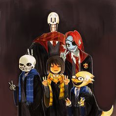Undertale characters at Hogwarts