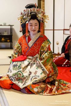 A woman dressed as a tayuu