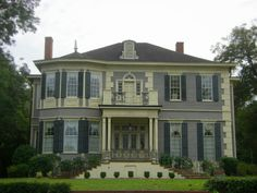 Vanishing South Georgia Hawkinsville Pulaski County GA Georgian Architecture Mansion Home House Style View Photograph Photo Picture Image Copyright Brian Brown