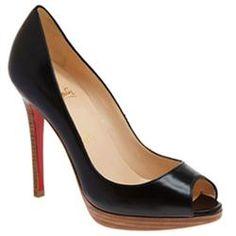 All You Need is Love And Christian Louboutin Yolanda 120mm Peep Toe Pumps Black EDK!