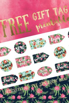 Free Floral Gift Tag Printable - From The Sun Room Blog