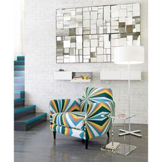 Multi-faceted mirrors - would look great above the dining table to create more light. Can easily be achieved by ordering some multi-faceted mirrors from eBay