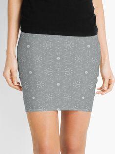 """Ultimate Gray #2"" Mini Skirt by Kettukas | Redbubble"