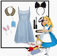 Alice in Wonderland   Community Post: 8 DIY Disney Costumes #Halloween