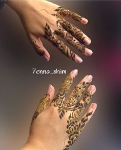 Gorgeous Arabic style finger designs by @7enna_shim