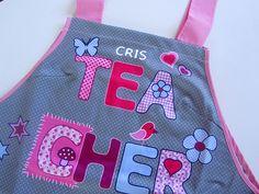 "Estola para Maestras ""Teacher Gris Personalizada"""