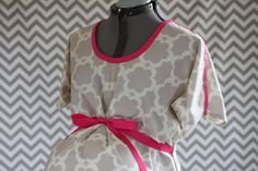 Labor and Delivery Hospital Gown-Dress, Custom Maternity Gown, Gray Tarika on Etsy, $53.00