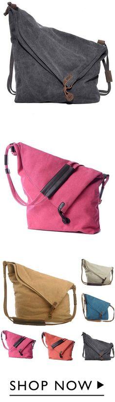 d36faa48d71b3 Woman Casual Canvas Shoulder Bag Handbags Crossbody Travel Tote Bags