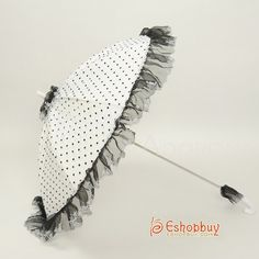 lace - scallop ruffle umbrella