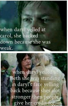 Daryl Dixon and Beth Greene, Bethyl fact | The Walking Dead