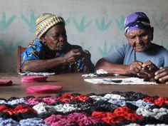 Widow care center Kenya - yo-yo quilt