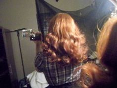 setting patterns for rag curls, 40s and 50s
