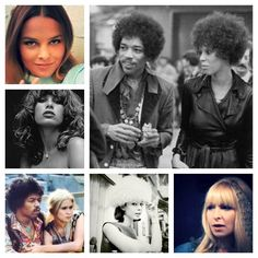 Jimi's women (clockwise from main image): Hendrix with Devon Wilson, Monika Dannemann, Linda Keith, with Carmen Borrero, Uschi Obermaier, the Mamas and Papas' Michelle Phillips.