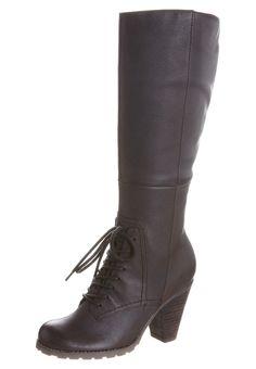 Bottes à lacets marron - Hush puppies femme - #fashion #hushpuppies