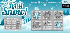 Oh the weather outside is frightful....but scratch cards are so delightful! Play the new Let It Snow card on Lucktastic!