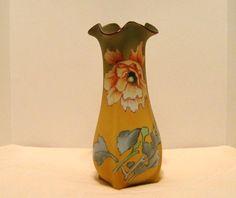 Antique nippon poppy vase