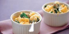 Individual Macaroni, Broccolini and Cauliflower Cheese