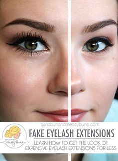 Left eye with lash fibers + mascara, right eye with no fibers or mascara. The fibers are a simple solution for under $5!