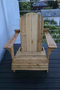 Adirondack chair from euro pallet #Chair, #Pallets