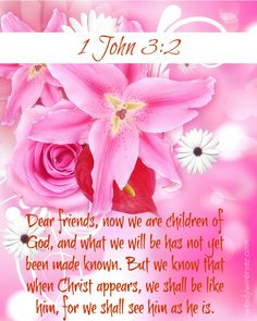 We Are Children of God!  www.wendywoerner.com Find #encouragement and comfort in who God tells us we are in this verse from 1 John!
