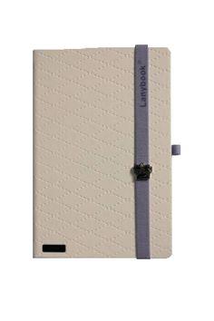 Lanybook notitieboek glamorous beauty white paars  #mylovelynotebook http://www.mylovelynotebook.nl