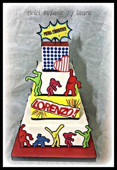 Torta comunione stile pop art