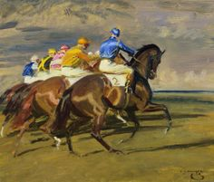 Study for Arrangement, 1 3/4 Newmarket, Sir Alfred Munnings (1878-1959)