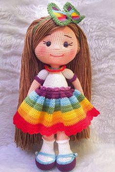 Free and Fantastic Amigurumi Crochet Pattern Ideas for 2020 Part 43 ; amigurumi for beginners; amigurumi for beginners; Crochet Dolls Free Patterns, Crochet Doll Pattern, Amigurumi Patterns, Doll Patterns, Pattern Ideas, Yarn Dolls, Knitted Dolls, Popular Crochet, Amigurumi Toys