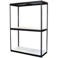 Storage Concepts 72 in. H x 60 in. W x 24 in. D 3-Shelf Bulk Storage Steel…