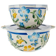 temp-tations® by Tara: temp-tations® Set of 2 Butterfly Garden Nesting Bowls