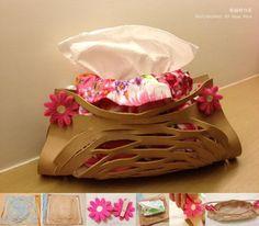 隨性創作小物,意外創造超手感氛圍 面紙盒~  http://aquapeng.pixnet.net/blog/post/91881133