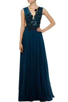 Featuring a prussian blue deep v-neck net inserts gown in georgette with black bead and sequin applique handwork in floral pattern on bodice. Shop now on www.carmaonlineshop.com #carma #carmaonlineshop #AmitGT #designer #luxury #embellished #white #peach   #style #fashion #dress #love #shopnow #agtbyamitgt #loveit #fashion #cocktaildress #dress #gown #redcarpet #justin #newlove #indianfashion #modern #fairytale #dreamy #shopnow #onlineshopping #luxury