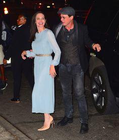 Angelina Jolie e Brad Pitt em première de filme em Nova York, nos Estados Unidos (Foto: AKM-GSI/ Agência)