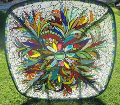 love the leaf shapes, very graceful. colors also nice. prior pin: Fiesta Table by Mary foley