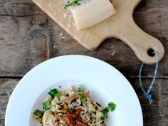 Dried-Porcini-Mushroom Risotto with Goat Cheese   Using the mushroom-soaking liquid to cook the rice gives this risotto intense flavor. There's just enough goat cheese to balance the earthiness of the...