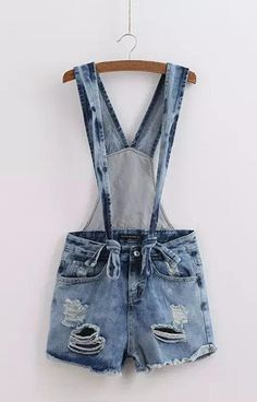 Specifications: Item Type:Shorts Fit Type:Regular Waist Type:Mid Fabric Type:Denim Thickness:Standard Closure Type:Zipper Fly Color Style:Natural Color Decoration:Hole,Pockets Pant Style:Overalls Patt