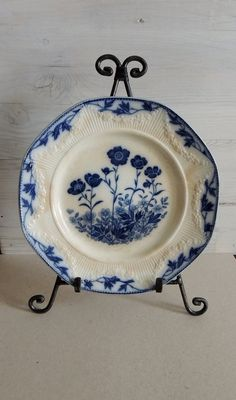 Antique Blue And White Plate, JG Meakin England, Stafford China, Antique China Plate, English China, Antique Bone China,