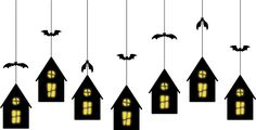 small haunted house pattern to use in different set ups (hanging, on shelf, etc.)