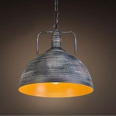 12''WidthIndustrial 1 Light Galvanized Iron Dome Pendant