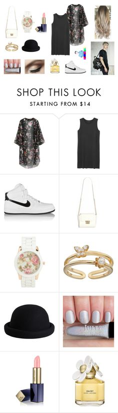 """""""Going on A Date with EXO Chanyeol"""" by hasnamaulydia ❤ liked on Polyvore featuring Chicnova Fashion, Monki, MCM, NIKE, Aéropostale, LC Lauren Conrad, Pieces, Estée Lauder and Marc Jacobs"""