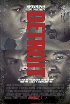"August 8th...""Detroit"", shitty movie. Absolutely shitty. K. Bigelow just didn't give a shit.  She should be ashamed."