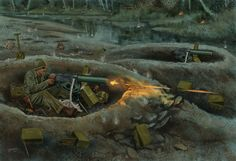battle art soldier military painting weapon gun machine war Home Decoration Canvas Poster Military Photos, Military Art, Military History, John Basilone, Military Drawings, Vietnam War Photos, War Dogs, Us Marines, Poster Pictures