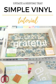 Fun DIY Home Decor. Learn to use vinyl with this simple vinyl tutorial! Transform simple objects & give them your own style just by learning a few easy techniques! Do It Yourself Crafts, Cricut Tutorials, Used Vinyl, Cricut Creations, Vinyl Projects, Craft Projects, Cricut Vinyl, Fall Diy, Adhesive Vinyl
