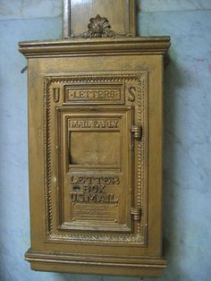 Is it weird that I want this old mailbox on the wall?
