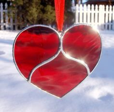 Victorian Style Stained Glass Heart Suncatcher is Sure to Catch Their Heart. $12.00, via Etsy.